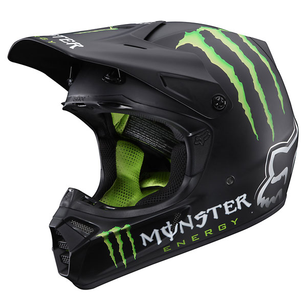 FOX casque V3 RC R�plica MONSTER taille L